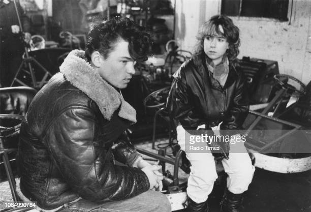 Actors Susan Tully and David Scarboro in a scene from the television soap opera 'EastEnders' November 19th 1985