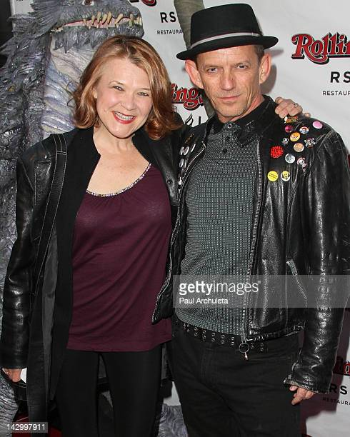Actors Susann Fletcher and Ezra Buzzington attend the SYFY Network's new series 'Monster Man' wrap party at the Rolling Stone Restaurant And Lounge...