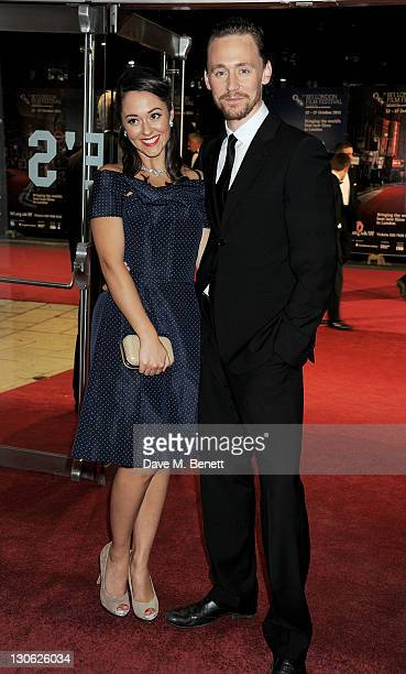 Actors Susannah Fielding and Tom Hiddleston attend the Closing Gala Premiere of 'The Deep Blue Sea' during the 55th BFI London Film Festival at Odeon...