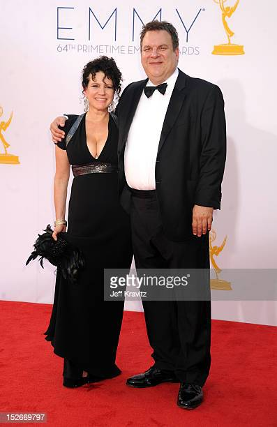 Actors Susie Essman and Jeff Garlin at the 64th Primetime Emmy Awards at Nokia Theatre L.A. Live on September 23, 2012 in Los Angeles, California.