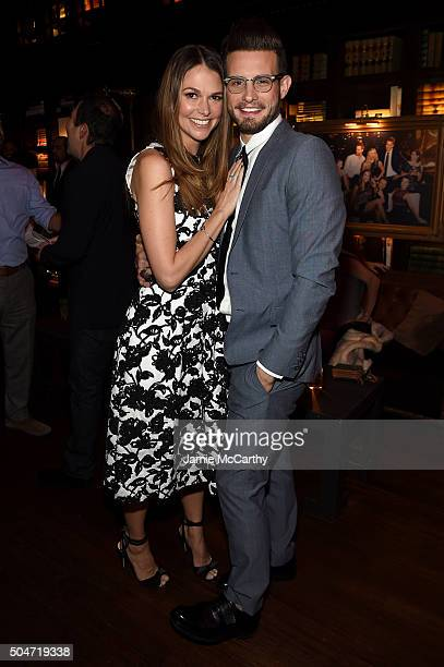 Actors Sutton Foster and Nico Tortorella attend the after party for the Younger Season 2 and Teachers Series Premiere at The NoMad Hotel on January...