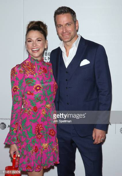 Actors Sutton Foster and Peter Hermann attend the Tribeca TV screening of Younger during the 2019 Tribeca Film Festival at Spring Studios on April 25...