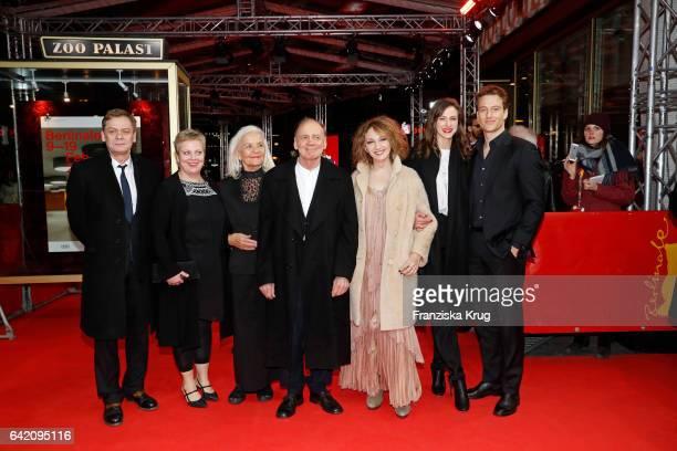Actors Sylvester Groth Gabriela Maria Schmeide Hildegard Schmahl Bruno Ganz Evgenia Dodina Natalia Belitski Alexander Fehlin attend the 'In Times of...