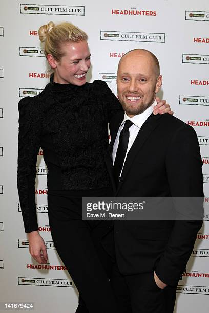 Actors Synnove Lund and Aksel Hennie attend a special Jameson Cult Film Club preview screening of Jo Nesbo's 'Headhunters' at the Saatchi Gallery on...