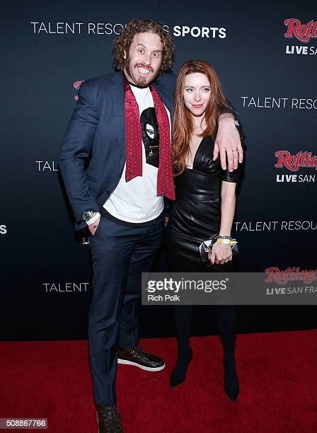 Actors T J Miller and Kate Gorney attend Rolling Stone Live SF with Talent Resources on February 7 2016 in San Francisco California