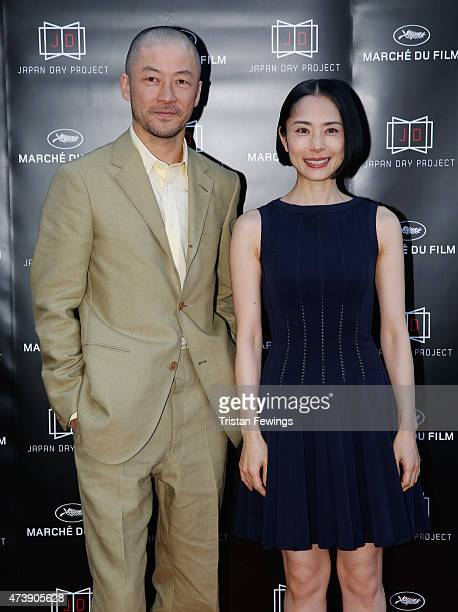 Actors Tadanobu Asano and Eri Fukatsu attend the Japan Day Project Party during the 68th annual Cannes Film Festival on May 18 2015 in Cannes France