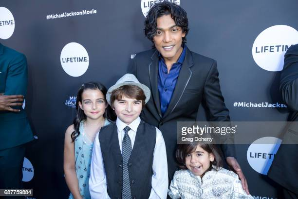 """Actors Taegen Burns, Aidan Smith, Navi and Michael Mourra arrive at the Lifetime Hosts Fan Gala And Advance Screening For """"Michael Jackson: Searching..."""