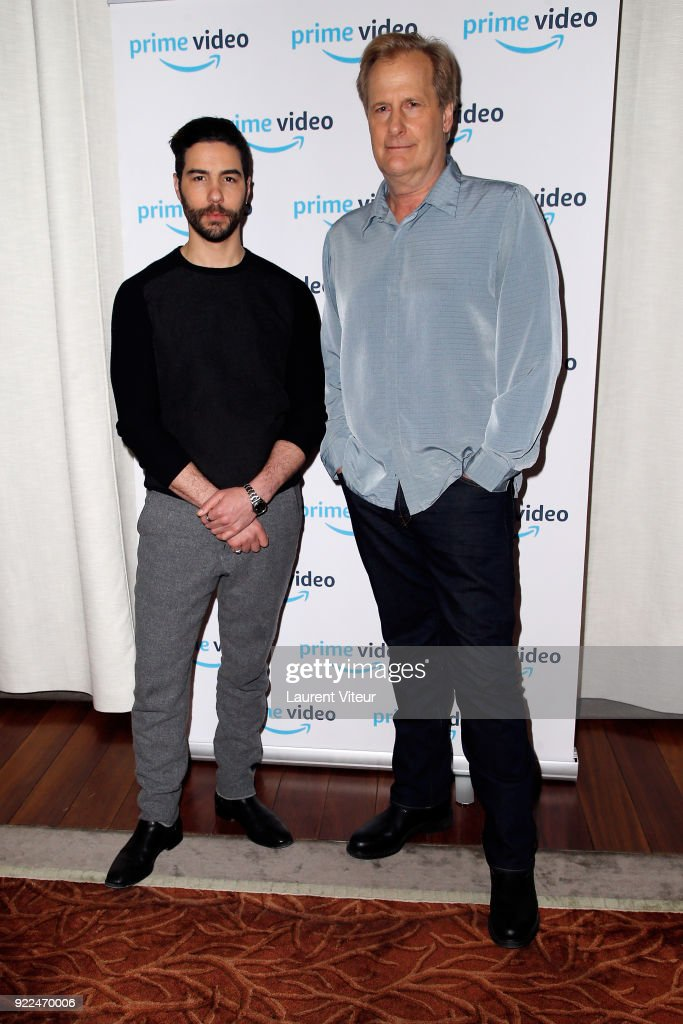 Actors Tahar Rahim and Jeff Daniels attend 'The Looming Tower' Special Screening, The New Series broadcasted on Amazon Prime Video at Hotel Royal Monceau Raffle on February 21, 2018 in Paris, France.