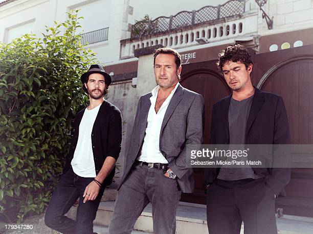 Actors Tahar Rahim Gilles Lellouche and Riccardo Scarmarcio are photographed for Paris Match on August 24 2013 in Angouleme France