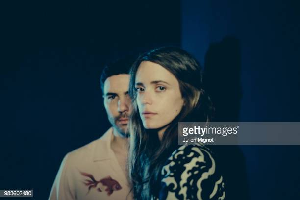 Actors Tahar Rahim Stacy Martin is photographed for Grazia Daily on May 2018 in Cannes France