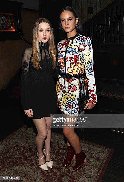 Actors Taissa Farmiga and Courtney Eaton attend Vanity Fair and FIAT celebration of Young Hollywood hosted by Krista Smith and James Corden to...