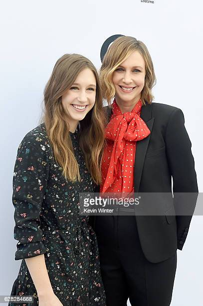 Actors Taissa Farmiga and Vera Farmiga attend The Hollywood Reporter's Annual Women in Entertainment Breakfast in Los Angeles at Milk Studios on...