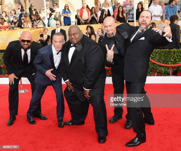Actors Tait Fletcher Michael Bowen Lavell Crawford Matthew T Metzler and Patrick Sane attend the 20th Annual Screen Actors Guild Awards at The Shrine...