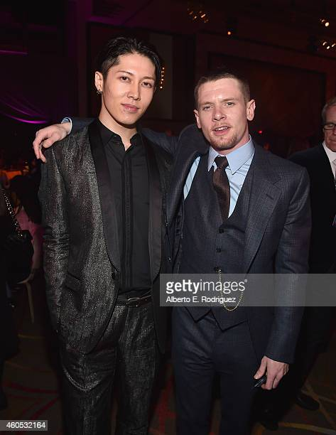 Actors Takamasa Ishihara and Jack O'Connell attend the after party for the premiere of Universal Studios' Unbroken at on December 15 2014 in...