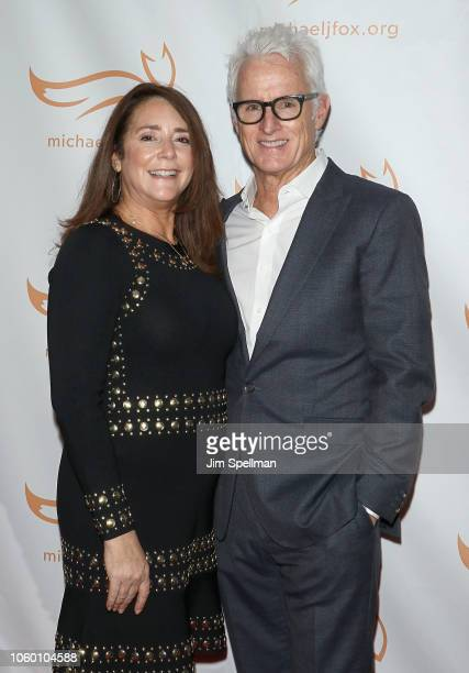 Actors Talia Balsam and John Slattery attend A Funny Thing Happened on the Way to Cure Parkinson's 2018 at the Hilton New York on November 10 2018 in...