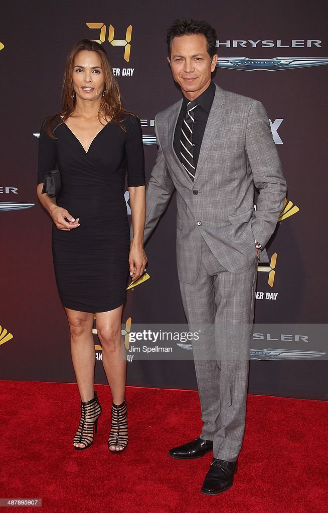 Actors Talisa Soto and Benjamin Bratt attend '24: Live Another Day' World Premiere at Intrepid Sea on May 2, 2014 in New York City.