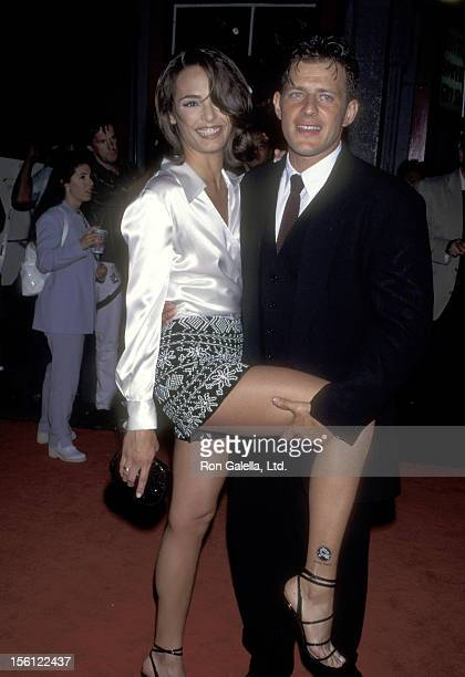 Actors Talisa Soto and Costas Mandylor attend the 'Mortal Kombat' Hollywood Premiere on August 16, 1995 at Mann's Chinese Theatre in Hollywood,...