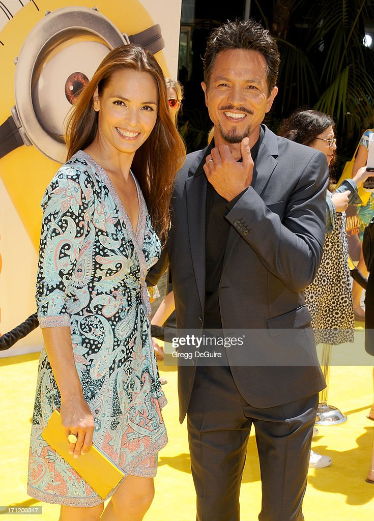 Actors Talisa Soto and husband Benjamin Bratt arrive at the Los Angeles premiere of 'Despicable Me 2' at Universal CityWalk on June 22, 2013 in Universal City, California.