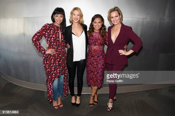 Actors Tamara Taylor Yael Grobglas Toni Trucks and Melora Hardin attend the Wonder Women Acting for Television panel on Day 3 of the SCAD aTVfest...