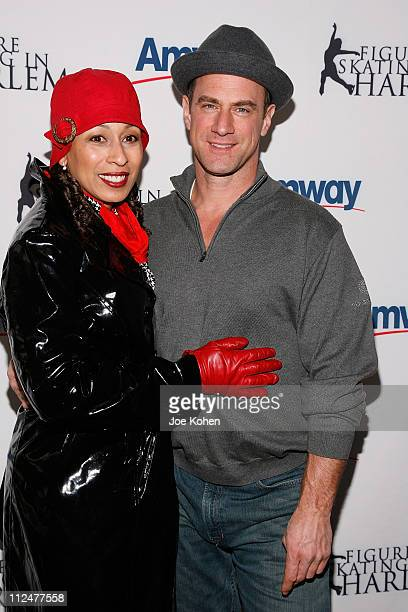 Actors Tamara Tunie and Christopher Meloni attend the 2009 Skating with the Stars at Wollman Rink in Central Park on April 6, 2009 in New York City.