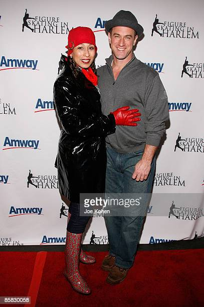 Actors Tamara Tunie and Christopher Meloni attend the 2009 Skating with the Stars at Wollman Rink in Central Park on April 6 2009 in New York City