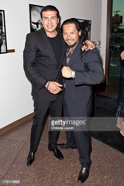 Actors Tamer Hassan and Sam Medina arrive at the Blood Out world premiere at Directors Guild Of America on April 25 2011 in Los Angeles California