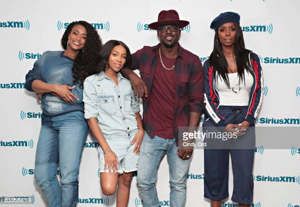 Actors Tami Roman Niatia 'Lil Mama' Kirkland Lance Gross and Tasha Smith visit the SiriusXM Studios on August 17 2017 in New York City