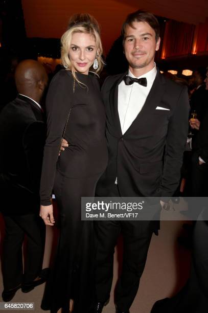 Actors Tamsin Egerton and Josh Hartnett attend the 2017 Vanity Fair Oscar Party hosted by Graydon Carter at Wallis Annenberg Center for the...