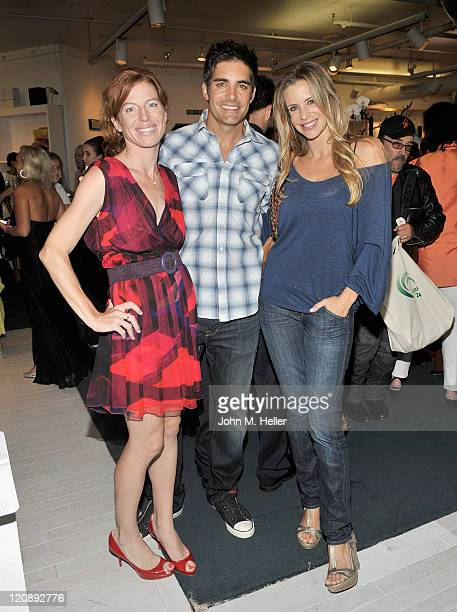 Actors Tanna Frederick Galen Gering and Jenna Gering attend actress Tanna Frederick's birthday party at Fred Segal's on August 11 2011 in Santa...