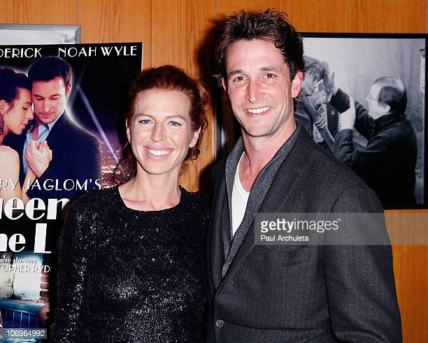 """Actors Tanna Frederick & Noah Wyle arrive at the """"Queen Of The Lot"""" Los Angeles premiere at the Directors Guild Of America on November 18, 2010 in..."""
