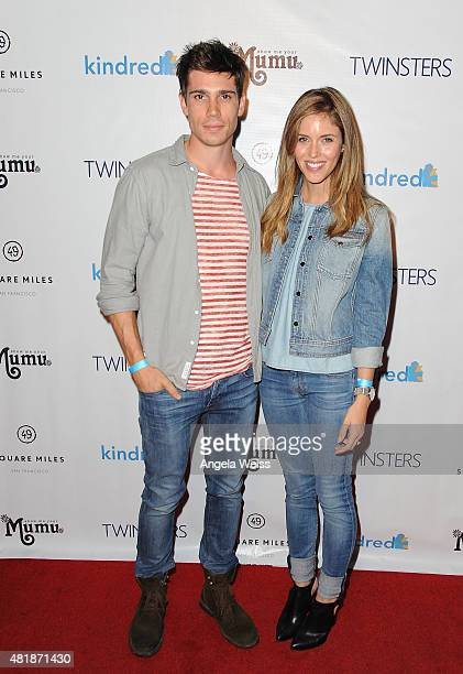 Actors Tanner Novlan and Kayla Ewell attend Twinsters Los Angeles Premiere hosted by The Kindred Foundation for Adoption at Confession on July 24...