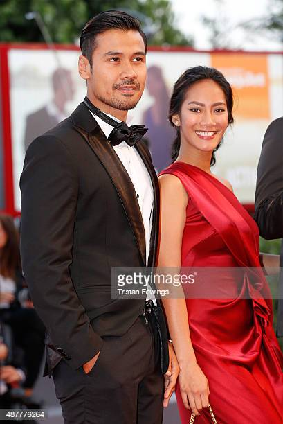 Actors Tara Basro and Chicco Jerikho attend a premiere for 'A Copy Of My Mind' during the 72nd Venice Film Festival at Sala Darsena on September 11...