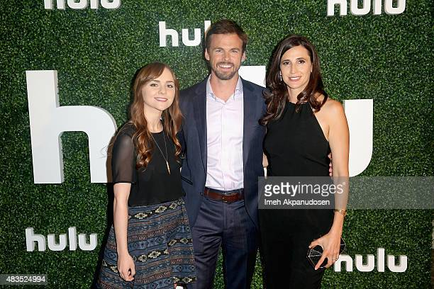 Actors Tara Lynne Barr Tommy Dewey and Michaela Watkins attend the Hulu 2015 Summer TCA Presentation at The Beverly Hilton Hotel on August 9 2015 in...