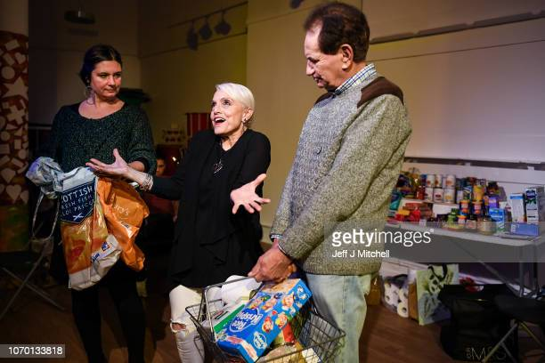 Actors Tara OsmanElizabeth McNally and James Park of As it is Theatre Company rehearse the play 'Foodbank as it is 2018' in collaboration with Oxfam...