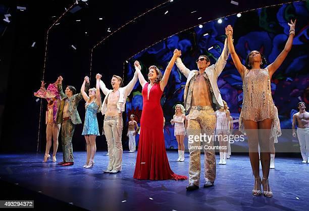 "Actors Tara Palsha, Joey Calveri, Kelly Felthous, Austin Miller, Laurie Wells, David Elder and Dionne Figgins perform onstage during the ""Trip of..."