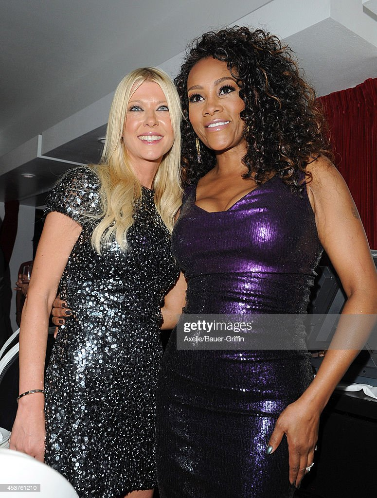 Actors Tara Reid and Vivica A. Fox attend Vivica A. Fox's 50th birthday celebration at Philippe Chow on August 2, 2014 in Beverly Hills, California.