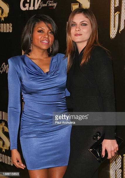 Actors Taraji Henson and Jodi Lyn O'Keefe attend the 3rd annual Cash Money Records PreGRAMMY Awards Party on February 11 2012 in Los Angeles...