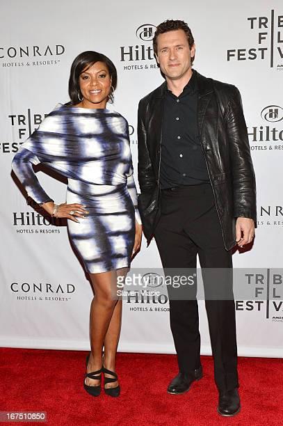 Actors Taraji P Henson and Jason O'Mara attend the TFF Awards Night during the 2013 Tribeca Film Festival on April 25 2013 in New York City