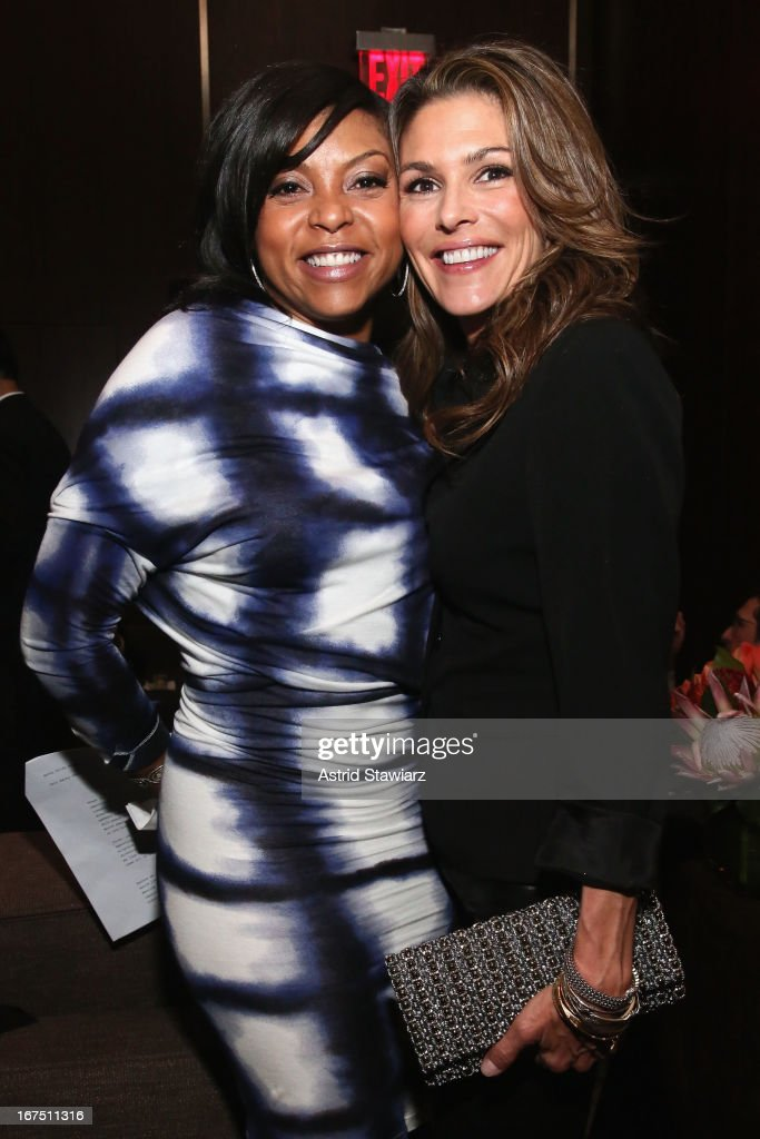 Actors Taraji P. Henson (L) and Paige Turco attends the TFF Awards Night during the 2013 Tribeca Film Festival on April 25, 2013 in New York City.