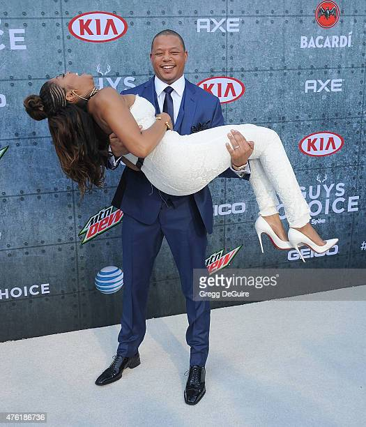 Actors Taraji P Henson and Terrence Howard arrive at Spike TV's 'Guys Choice 2015' at Sony Pictures Studios on June 6 2015 in Culver City California