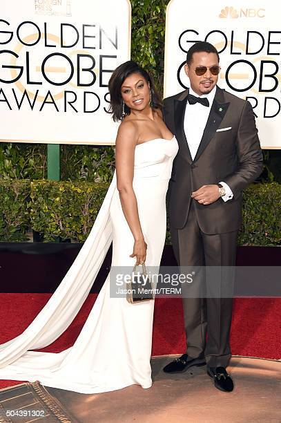 Actors Taraji P Henson and Terrence Howard attend the 73rd Annual Golden Globe Awards held at the Beverly Hilton Hotel on January 10 2016 in Beverly...