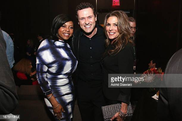 Actors Taraji P Henson Jason O'Mara and Paige Turco attend the TFF Awards Night during the 2013 Tribeca Film Festival on April 25 2013 in New York...