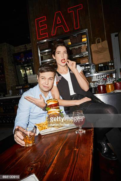 Actors Taran Killam and Cobie Smulders are photographed for Entertainment Weekly Magazine on March 3 2017 at Clinton Hall in New York City