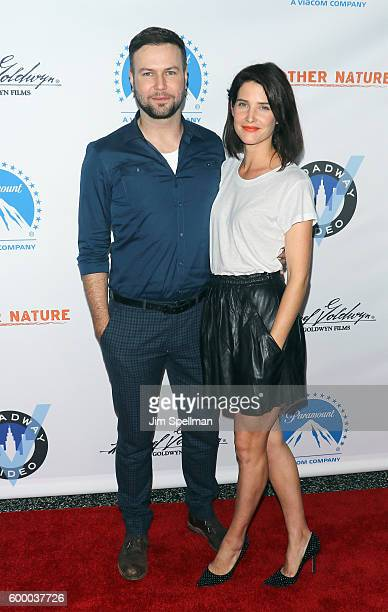 Actors Taran Killam and Cobie Smulders attend the 'Brother Nature' New York premiere at Regal EWalk 13 on September 7 2016 in New York City