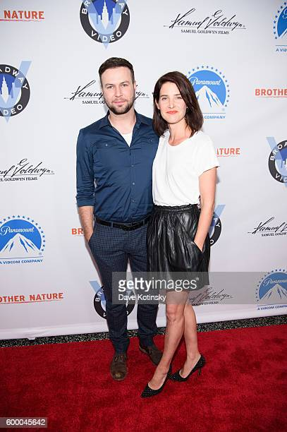 Actors Taran Killam and Cobie Smulders attends the 'Brother Nature' New York Premeire at Regal EWalk 13 on September 7 2016 in New York City