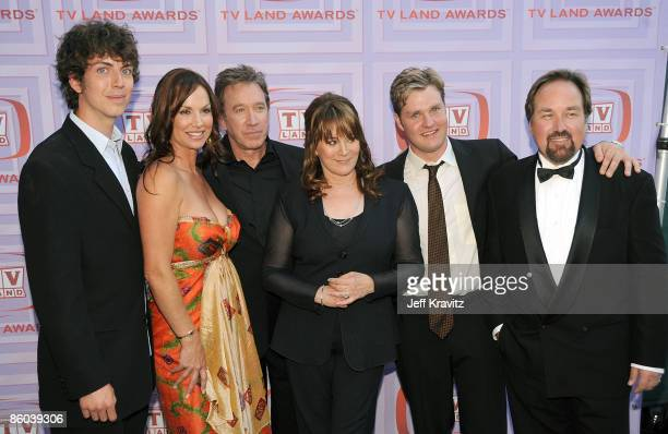 Actors Taran Noah Smith Debbie Dunning Tim Allen Patricia Richardson Zachary Ty Bryan and Richard Karn of Home Improvement attend the 7th Annual TV...