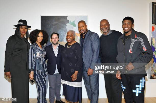 Actors Ta'Rhonda Jones and Serayah McNeill producer Danny Strong Cheryl Lynn Bruce actor Morocco Omari artist Kerry James Marshall and guest attend...