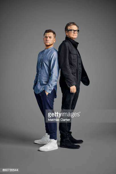 Actors Taron Egerton and Colin Firth from Kingsman The Golden Circle are photographed for Entertainment Weekly Magazine on July 20 2017 at Comic Con...