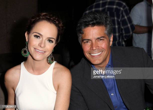 Actors Taryn Manning and Esai Morales attend the SAGindie WGAW and SAGAFTRA reception during the 2013 Los Angeles Film Festival at LeKa Restaurant on...