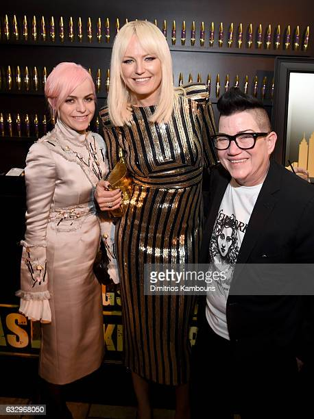 Actors Taryn Manning Malin Akerman and Lea DeLaria attend the Entertainment Weekly Celebration of SAG Award Nominees sponsored by Maybelline New York...